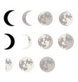 moon phases symbols vector image
