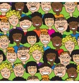 seamless human faces vector image
