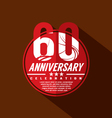 60th Years Anniversary Celebration Design vector image vector image