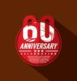60th Years Anniversary Celebration Design vector image