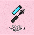 8 march womens day card with pattern background vector image vector image