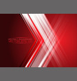 abstract arrow light on red design modern future vector image vector image