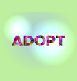adopt concept colorful word art vector image vector image