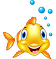adorable clown fish with water bubbles vector image vector image