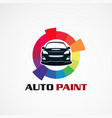 auto paint car service logo icon element vector image vector image