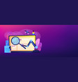 automated testing concept banner header vector image vector image