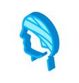 bandaged head man silhouette headache isometric vector image vector image