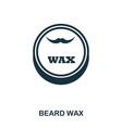 beard wax icon flat style icon design ui vector image