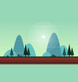 beauty landscape for game background vector image