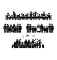 big family and relatives reunion gathering and vector image vector image