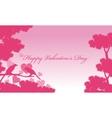 bird and tree landscape valentine vector image