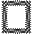 Black lace frame vector image vector image