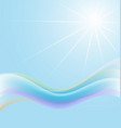blue abstract background with bright sun vector image vector image