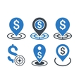 Business Goal Flat Icons vector image vector image