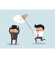 Business man stealing idea Steal idea concept vector image vector image