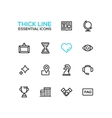 Business - Thick Single Line Icons Set vector image vector image