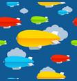 cartoon color dirigible seamless pattern vector image