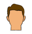 cartoon face man default people character vector image vector image