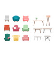chairs and tables set cartoon vector image vector image