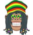 Chimpanzee Rastafarian vector image vector image