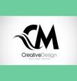 cm c m creative brush black letters design