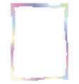 colored frame with dots vector image vector image
