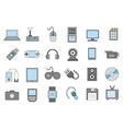 Computer technologies colorful icons set vector image