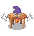 elf character wooden table in the restaurant vector image