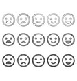 emoticon doodles set hand drawn vector image