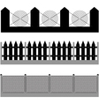 fence silhouette vector image vector image