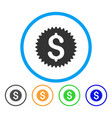 financial seal rounded icon vector image