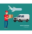 Funny Delivery character vector image