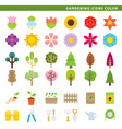 gardening icons color vector image