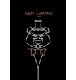 Gentlemans Club bear Line emblem mens Club vector image