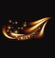 golden light line luxury luminous wave magic vector image vector image