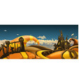 Halloween background Cartoon landscape panorama 3d vector image vector image