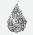 hand drawn ornamental highly detailed abstract vector image vector image