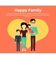 Happy Family Concept Banner Design vector image vector image