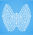 human thyroid isolated on a blue background vector image vector image