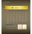 June 2013 calendar vector | Price: 1 Credit (USD $1)