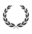 laurel wreath placed on white background icon vector image