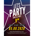 Lets party design poster Night club template Music vector image vector image
