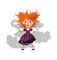 little disheveled and soiled red vector image vector image