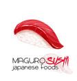 maguro sushi vector image vector image