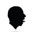 man head art silhouette vector image vector image