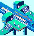 metro train station isometric vector image