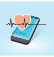 mobile health control vector image vector image