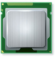 Modern computer core processing unit CPU isolated vector image vector image