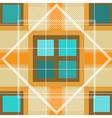 Modern Orange Plaid Pattern vector image vector image