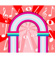 musical notes archway vector image